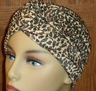 Turban Hat Chemo Cap Womens Girls Fits Most Pleated Polyester Animal Prints
