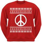Peace Sign Ugly Christmas Sweater Red Adult Sweatshirt