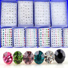 40PCS Wholesale Lots Charming Clear Rhinestone Crystal Ear Studs Earrings Hot!