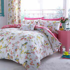 Catherine Lansfield Birds Boutique Floral Blossom Duvet Quilt Cover Bedding Set