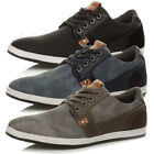 MENS LACE UP FLAT CASUAL CONTRAST PLIMSOLES LOW TOP TRAINERS PUMPS SHOES SIZE