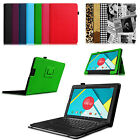 Folio PU Leather Case Stand Cover for Nextbook Ares 11.6 with Keyboard Holder
