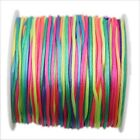 1/6rolls Various Color Chinese Knot Satin Macrame Beading Jewelry Cords Rope 60M