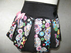 NEW Girls Pink black white skulls floral Cheerleader Skirt rock goth Gift Party