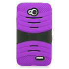 LG Ultimate 2 L41C Hard Gel Rubber KICKSTAND Case Phone Cover Accessory