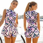 Summer Fashion Women Jumpsuit High Waist Print Playsuit Shorts Rompers Thrifty