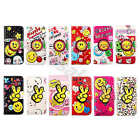 For Samsung Phones Lovely Smile Flip Card Wallet Stand PU Leather Case Cover #B2
