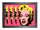 Andy Warhol - Monroe X 4 Pink American Artist Expression Celebrity Poster Pop