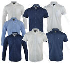 Mens Shirts Threadbare Linen Chambray Long Sleeved Plain Grandad Casual Summer