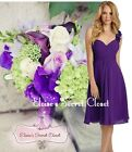 BNWT CLOVER Cadbury Purple  Corsage Chiffon Bridesmaid Prom Dress UK 6 - 18