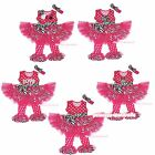 Hot Pink Polka Dots Zebra Vest Top Dance Tutu Pants Outfit Girl Clothing 1-8Year
