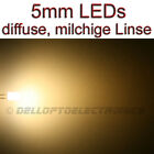 5mm LEDs WARMWEISS DIFFUS 1,4 Lumen