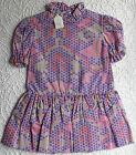 Girls dress with flounce Vintage 1960s 1970s UNUSED Ladybird Age 4 years Pink