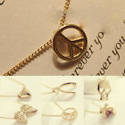 2Pcs Fashion Simple Women Wishing Clavicle Pendant Necklace Jewelry Charm Gift