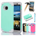 New Hybrid Shockproof Combo Rugged PC Rubber Matte Hard Case Cover  For HTC M9