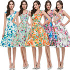 NEW STCOK Ladies VTG 1960s 50's style Floral Rockabilly Pin-up Shirt Swing Dress