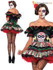 Ladies Leg Avenue Mexican Day of the Dead Fancy Dress Womens Halloween Costume