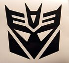 "Transformers Decepticon Vinyl Decal Sticker Choose Color 5""W x 5""H"