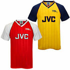 Arsenal FC Official Football Gift Mens 1988 Retro Home & Away Kit Shirt
