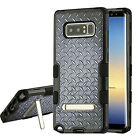 Samsung Galaxy Note 8 Rubber IMPACT TUFF Hybrid KICKSTAND Cover + Screen Guard