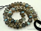 "Micro Faceted LABRADORITE BIG 6-7.5mm Rondelle Beads 8"" Str (Select-A-Size) A+"