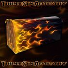Custom Painted and Airbrushed Mailbox Realistic Fire Flame