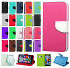 For Nokia Lumia 640 Premium Leather 2 Tone Wallet Case Pouch Flip Phone Cover