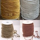 5/100M Gold/Silver/ Copper/Bronze Curb Open Link Chain Metal For Crafts Jewelry