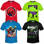 Marvel Avengers Hulk Spiderman Official Gift Boys Kids T-Shirt