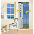 4 PIECE WALK THROUGH FLY INSECT MESH DOOR CURTAIN SCREEN BLACK / WHITE AVAILABLE