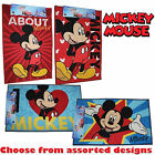 Disney MICKEY MOUSE 50 x 80cm Rectangular Bedroom Rugs - Assorted