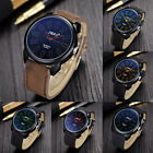 Classic Vintage Mens Watch Waterproof Wristwatch Leather Sport Quartz Army Watch