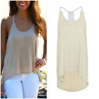 Women Summer Fashion Sleeveless Casual Loose Halter Tank Tops Vest Shirt Blouses