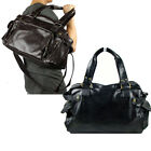 MEN LARGE FAUX LEATHER BAG SPORTS GYM TRAVEL LUGGAGE HOLDALL WEEKEND SATCHEL NEW