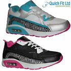 LADIES SHOES SPORTS GYM JOGGING RUNNING CASUAL WOMENS TRAINERS BOOTS SIZES 3-5UK