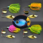 Mixed Color Spinner Fishing Lures Bass Crank Bait Crank Bait Sharp Hooks Tackle