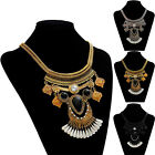 Women Retro Necklace Irregular Crystal Pendant Gold Chain Statement Cheap Unique