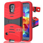 For Alcatel OneTouch Pop 2 (4.5) SERIES RUGGED Hard Rubber w V Stand Case Colors