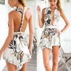 Sexy Women Playsuit Strap Sleeveless Floral Bandage Jumpsuit Casual Rompers 2015
