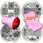 JQ 1-60 Designs Nail Art Image Stamp Stamping Plates Manicure Template + GIFT