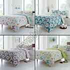 BUTTERFLY REVERSIBLE FLORAL SHABBY CHIC BLUE PINK QUILT DUVET COVER BEDDING SET