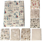 1Yard Linen Cotton Large Fabric Cloth Sewing Natural Vintage Europe Style NEW