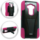 For LG G Stylo Advanced Layer HYBRID KICKSTAND Rubber Phone Case Cover Accessory