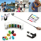 Extendable Handheld Portrait Selfie Stick & Remote Button For iPhone Samsung HTC
