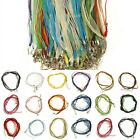 Wholesale 10/20/100Pcs Organza Voile Ribbon Necklace Lobster Clasp Chain For DIY