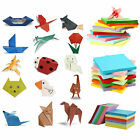 Origami Square Paper Double Sided Coloured Sheets Craft DIY 5/7/8/10/14.5cm