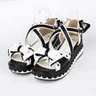 2015 New Punk gothic lolita cosplay platform bows shoes Sandals 8459--5