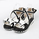 New Punk gothic lolita cosplay platform bows shoes Sandals 8459-5 custom made