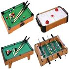WOODEN MINI TABLE TOP GAME SET KIDS DESKTOP ARCADE PLAY TOY FAMILY FUN XMAS GIFT