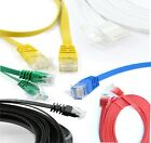 Flat RJ45 Cat5e / Cat6 Ethernet Cable Network LAN Patch Lead Wholesale